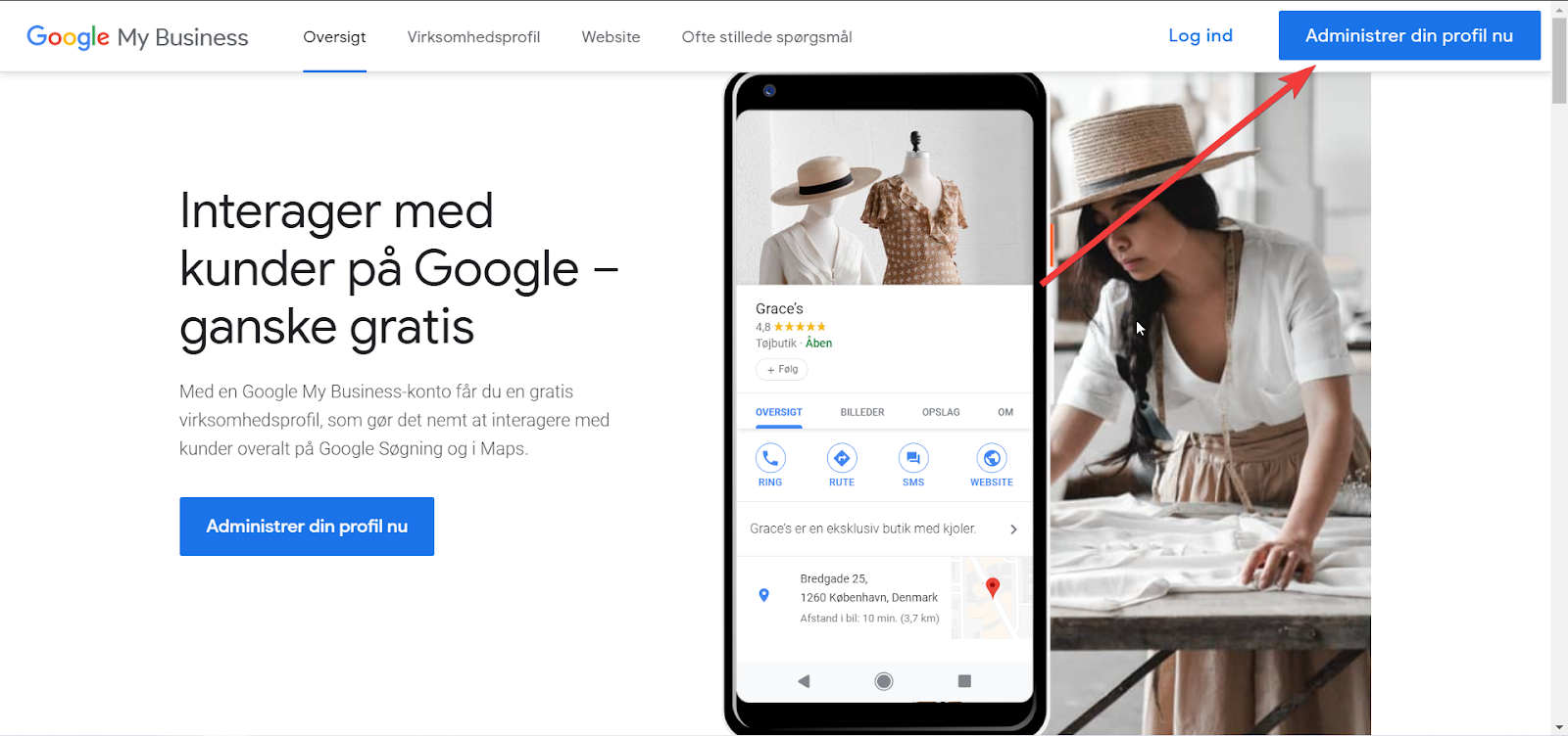 Google My Business oprettelse - Step 1
