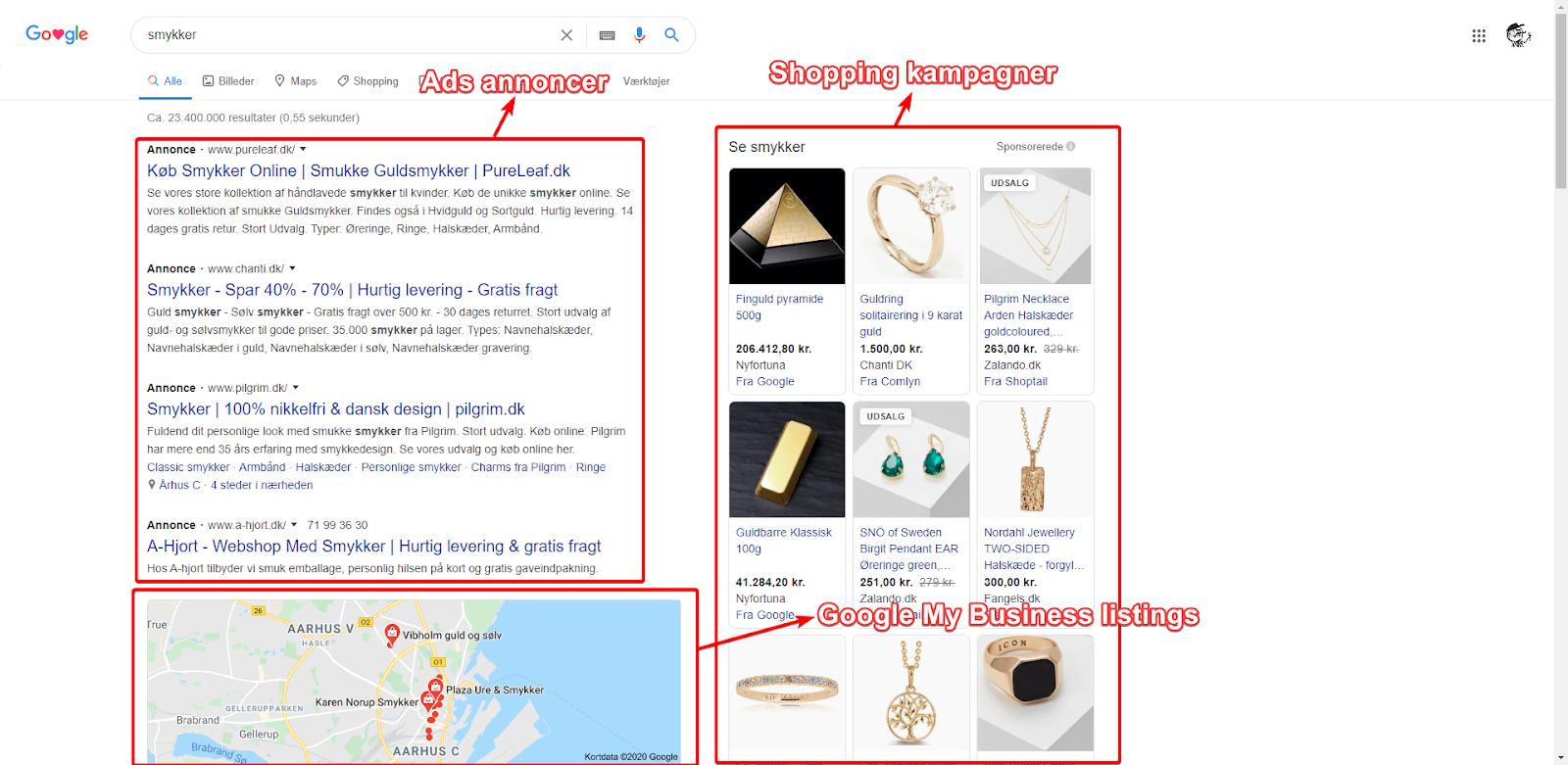 google-kommerciel-serp